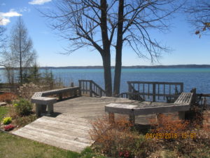 Alden Depot Deck and Steps to Torch Lake